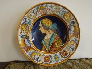 Ceramica di Deruta diametro 41 cm anni 40